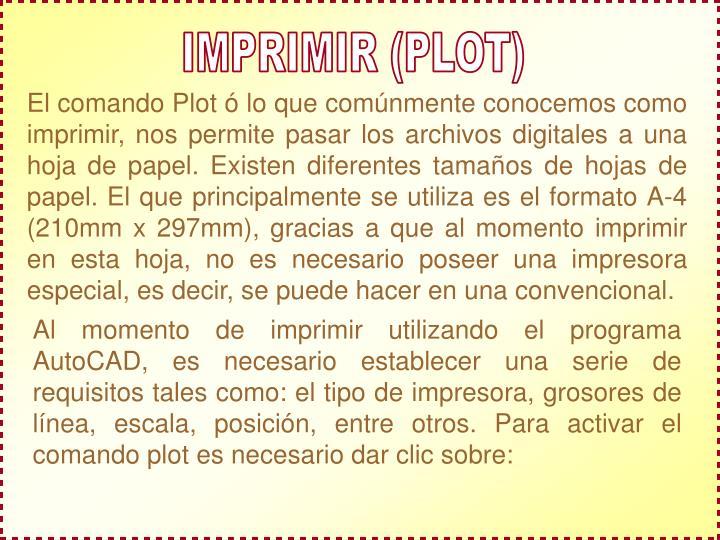 IMPRIMIR (PLOT)