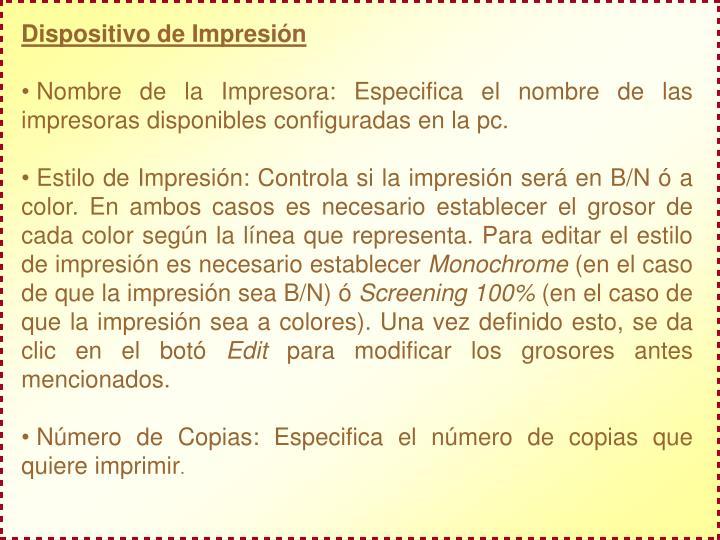 Dispositivo de Impresión