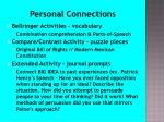 personal connections