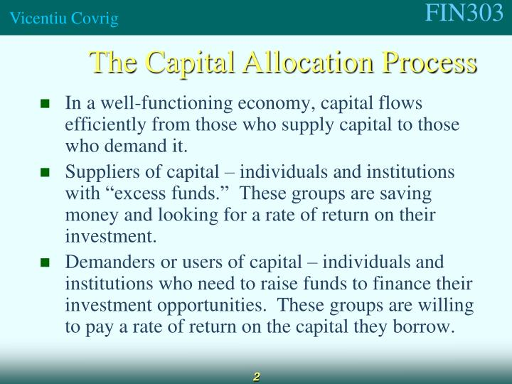 The Capital Allocation Process