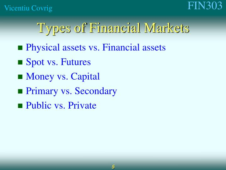 Physical assets vs. Financial assets