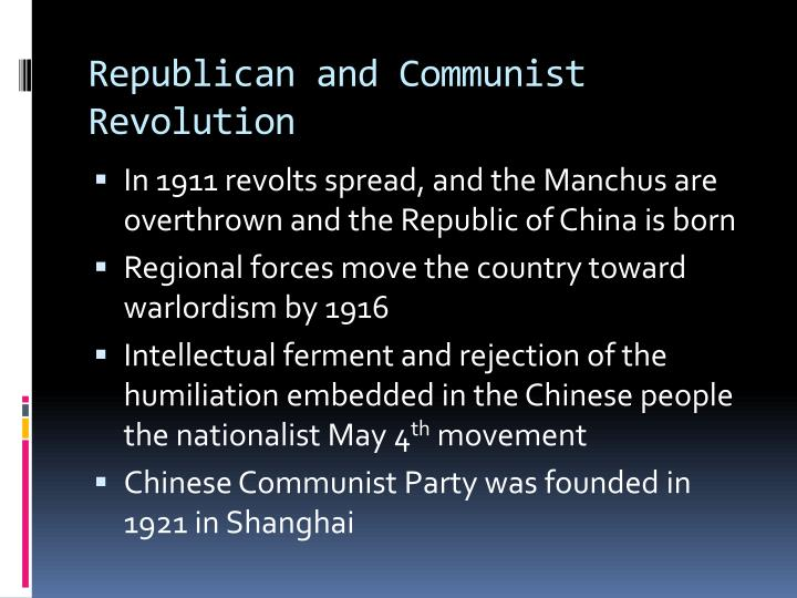 Republican and Communist Revolution