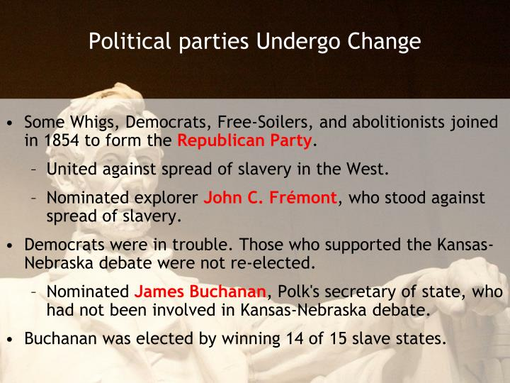 Political parties undergo change
