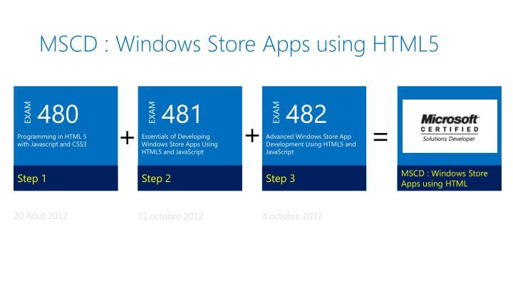 MSCD : Windows Store Apps
