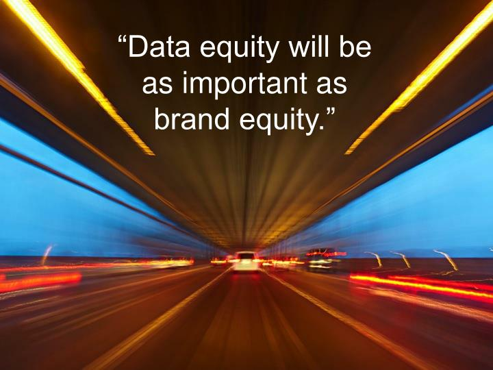 """Data equity will be"