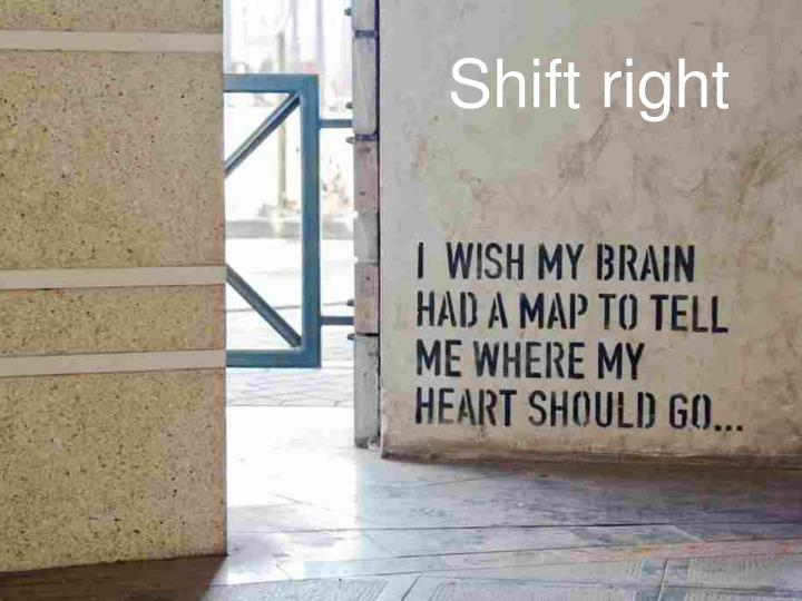 Shift right