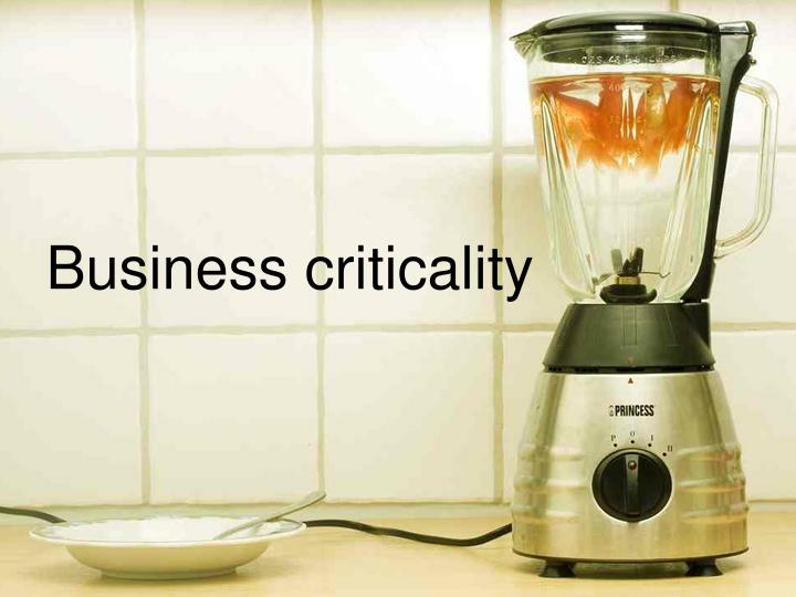 Business criticality