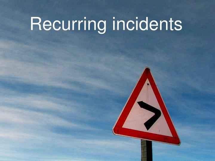 Recurring incidents