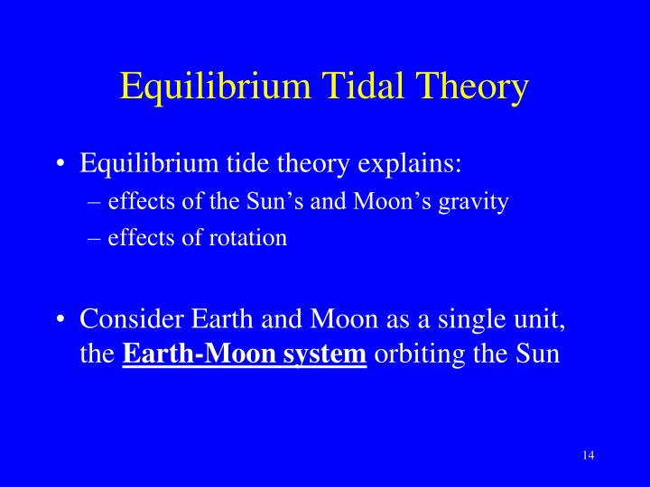 Equilibrium Tidal Theory