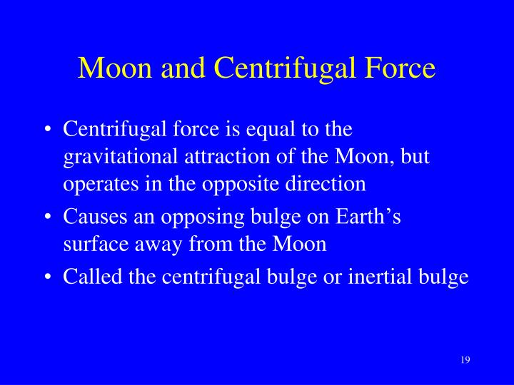 Moon and Centrifugal Force