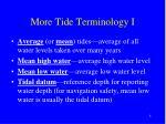 more tide terminology i