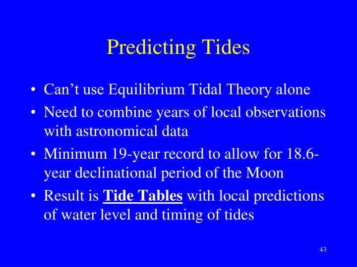 Predicting Tides