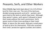 peasants serfs and other workers