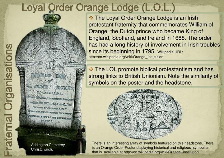 Loyal Order Orange Lodge (L.O.L.)