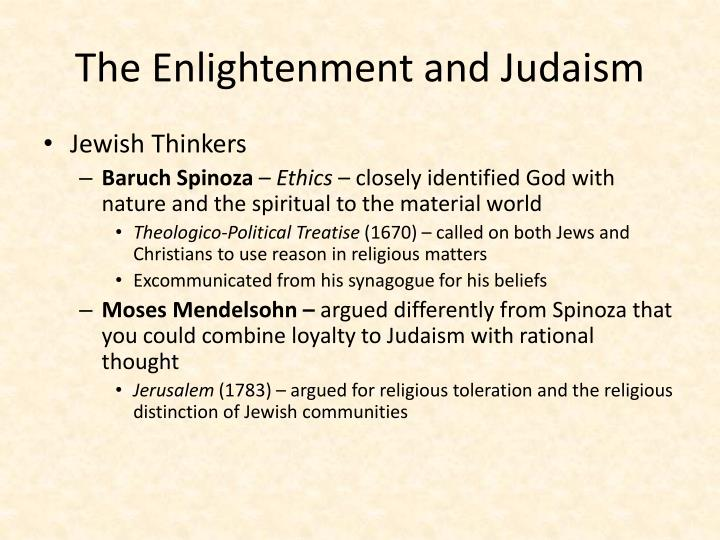 The Enlightenment and Judaism