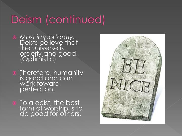 Deism (continued)