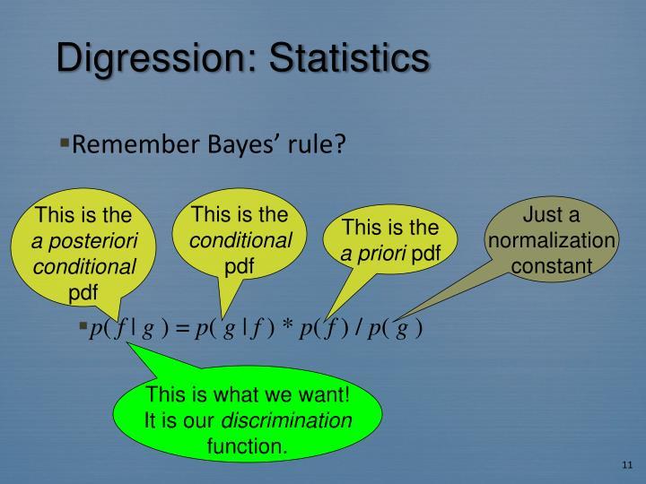 Digression: Statistics