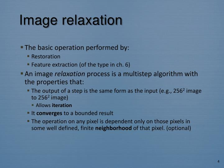 Image relaxation