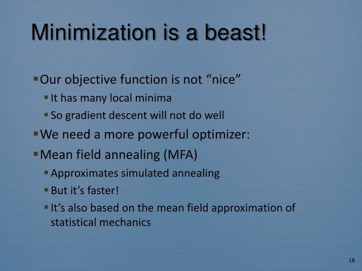 Minimization is a beast!