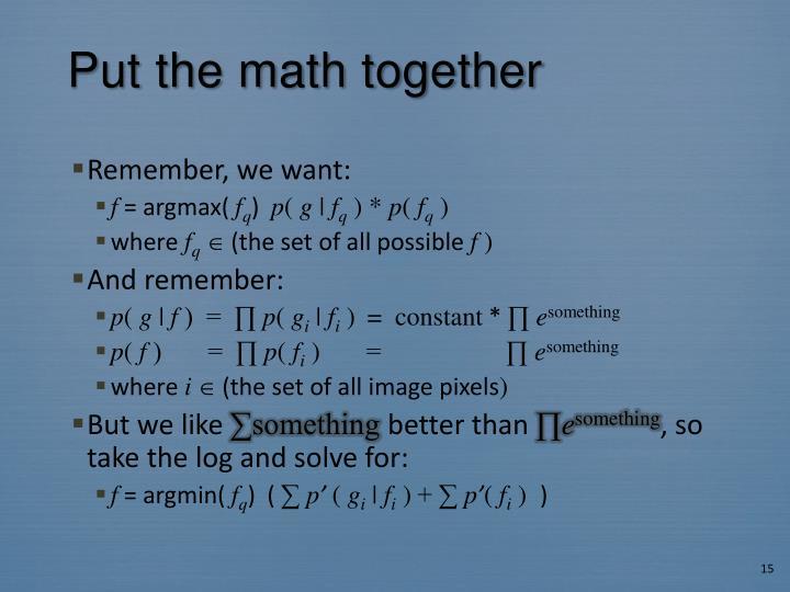 Put the math together