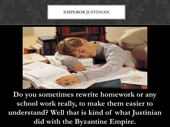 Emperor Justinian