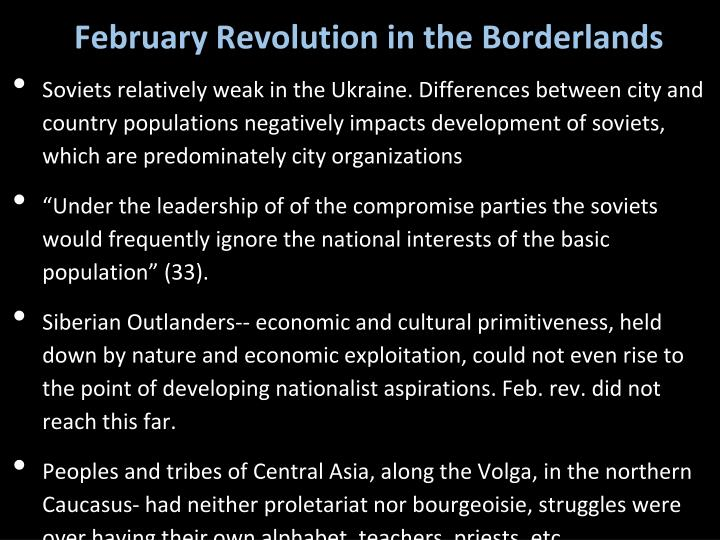 February Revolution in the Borderlands