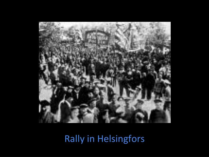 Rally in Helsingfors