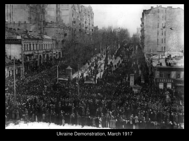 Ukraine Demonstration, March 1917