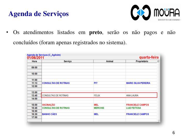 Agenda de Serviços