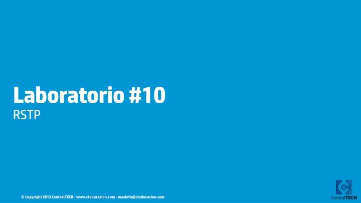 Laboratorio #10