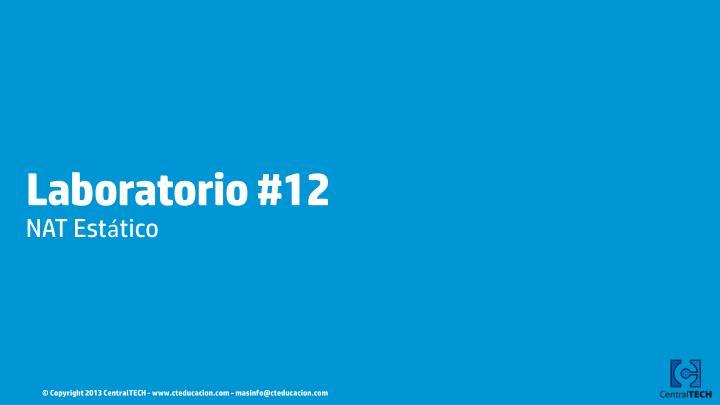 Laboratorio #12