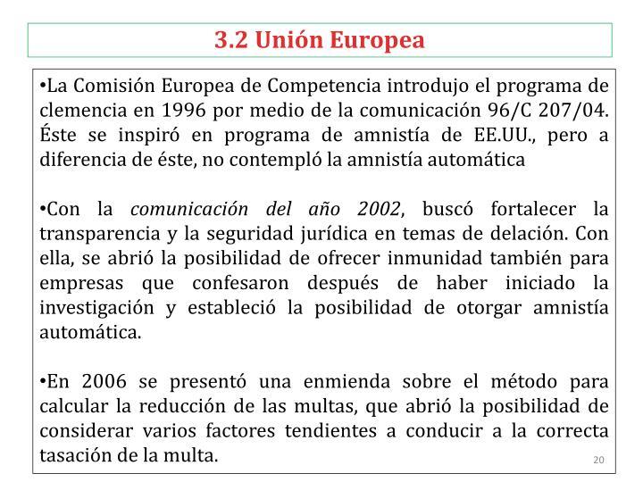 3.2 Unión Europea