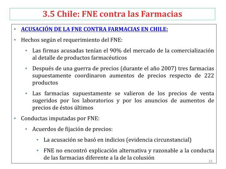 3.5 Chile: FNE contra las Farmacias