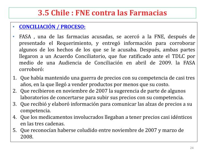 3.5 Chile : FNE contra las Farmacias