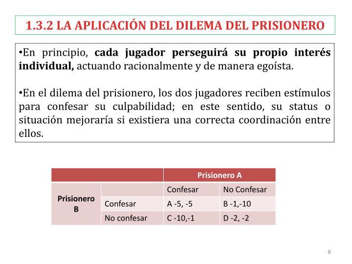 1.3.2 LA APLICACIÓN DEL DILEMA DEL PRISIONERO