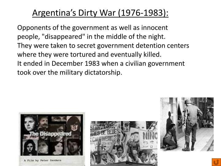 Argentina's Dirty War (1976-1983):