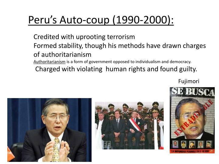 Peru's Auto-coup (1990-2000):