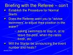 briefing with the referee con t1