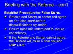 briefing with the referee con t3