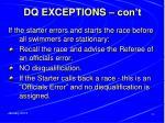 dq exceptions con t