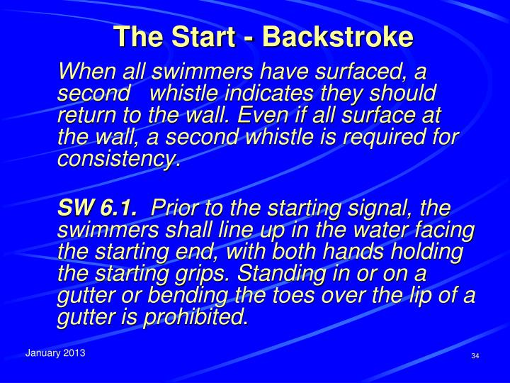 The Start - Backstroke