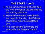 the start con t