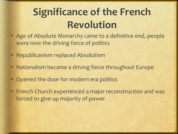 Significance of the French Revolution