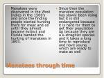 manatees through time