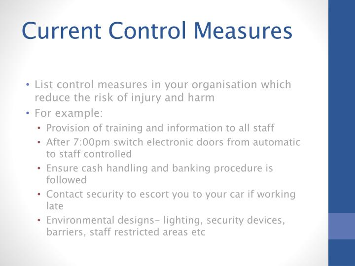 Current Control Measures