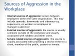 sources of aggression in the workplace