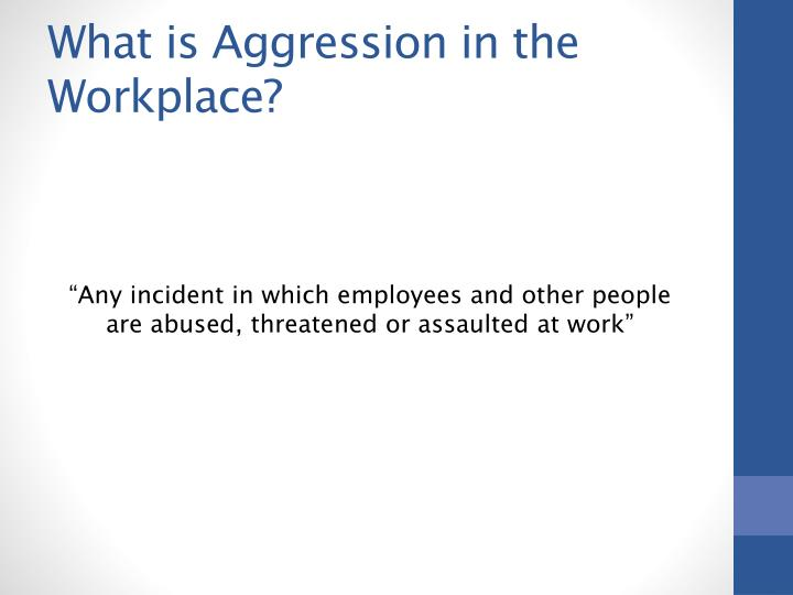 What is Aggression in the Workplace?