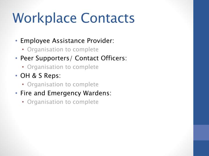 Workplace Contacts