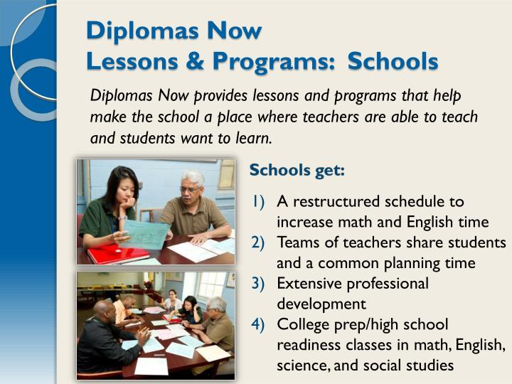 Diplomas Now