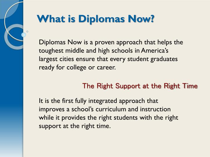 What is Diplomas Now?